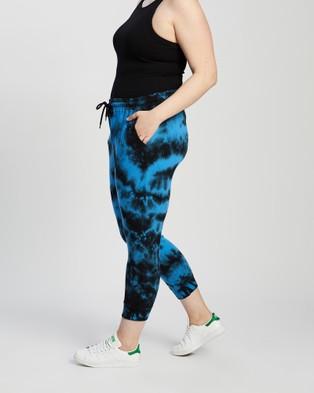 Love Your Wardrobe Immy Tie Dye Joggers - Sweatpants (Cobalt & Black Tie Dye)
