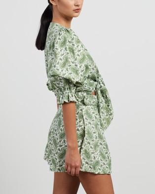 Faithfull The Brand Jacinta Top - Cropped tops (Sable Paisley Print)