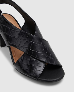 Hush Puppies Laila - Sandals (Black Croc)