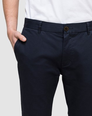 Wayver Slim Stretch Chinos - Pants (Navy)