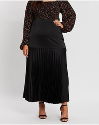 Atmos&Here Curvy - Aurora Pleated Skirt