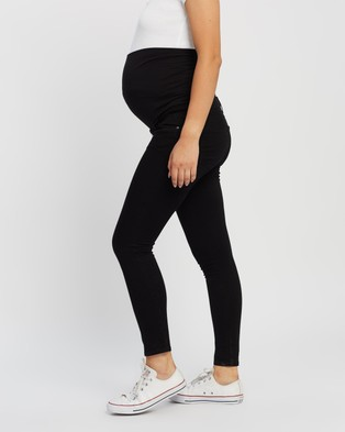 TOPSHOP Maternity Leigh Over Bump Maternity Jeans - High-Waisted (Black)