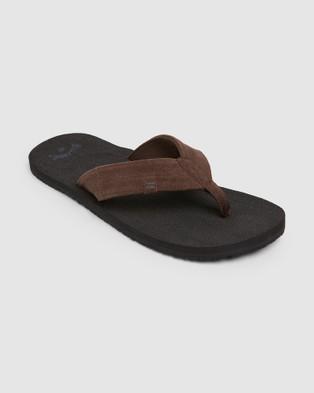 Billabong Seaway Suede Thongs - Sandals (BLACK)