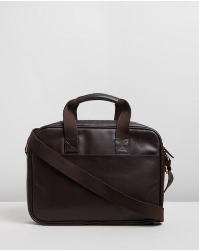 Staple Superior Harold Laptop Briefcase Chocolate