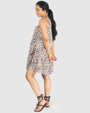 Pea in a Pod Maternity Royce Nursing Dress - Printed Dresses (Animal Print)