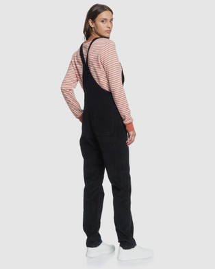 Roxy Womens Past Or Present Corduroy Dungaree - Sleeveless (Anthracite)