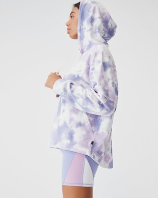 Cotton On Body Active Lifestyle Relaxed Hoodie Hoodies Periwinkle Tie Dye