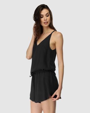 Deshabille Sleepwear - Rochelle PJ Set Two-piece sets (Black)