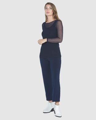 Faye Black Label Promise Pintuck Pants - Pants (Navy)