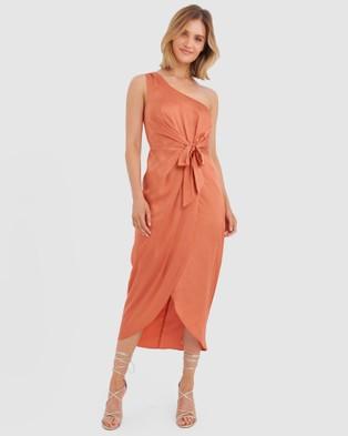 Forcast Pia One Shoulder Dress - Bridesmaid Dresses (Copper)