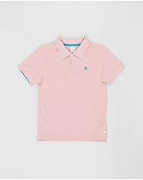 Scotch Shrunk - Short Sleeve Pique Polo - Kids-Teens