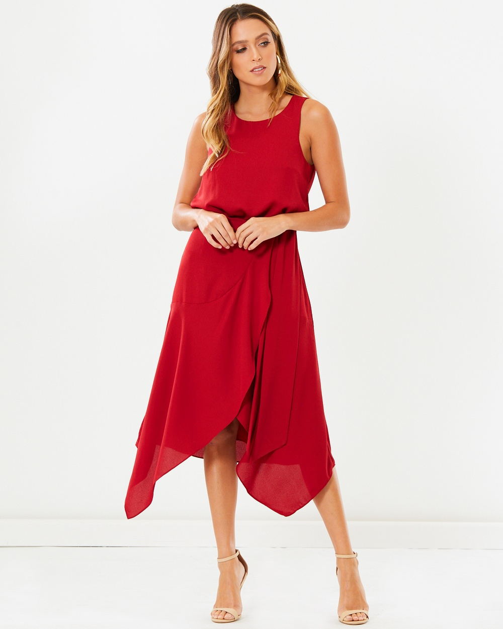 Tussah Walton Midi Dress Dresses Plum Walton Midi Dress