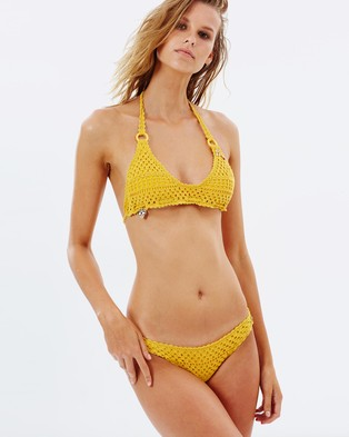Stella Mccartney Swim – Crochet Bikini Set – Bikini Set Yellow