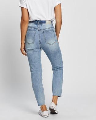 Ziggy Denim Organic Meet My Mum Jeans - High-Waisted (Indigo Raider Trash)