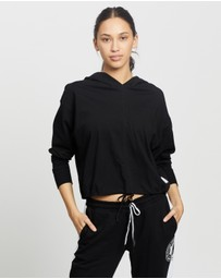 DKNY - Cropped Hoodie Tee with Logo Patch