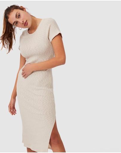 Cotton On Set Dressing Midi Dress Latte