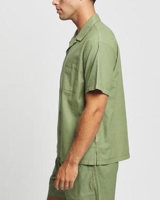 Double Rainbouu SS Hawaiian Shirt - Casual shirts (Khaki)