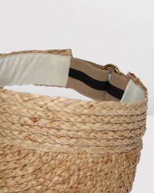 BeforeDark Noosa Raffia Visor - Hats (Natural)