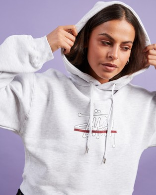 Stussy Outline BF Hood - Hoodies (Snow Marle)