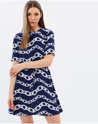 Warehouse - Chain Print Flip Dress