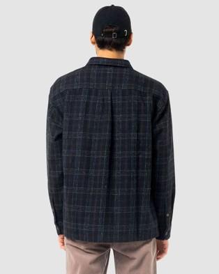 Rusty Brimming Heavy Long Sleeve Overshirt Casual shirts BLK