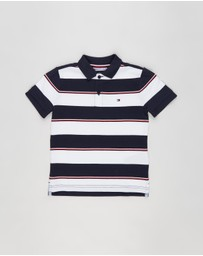 Tommy Hilfiger - Global SS Stripe Polo - Kids