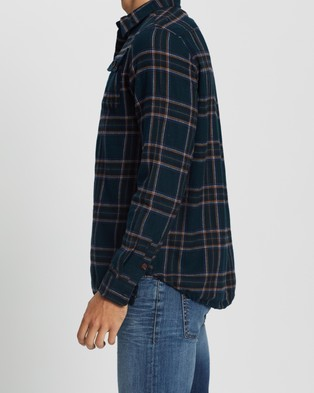 Commune LS Flannel Shirt - Casual shirts (Navy)
