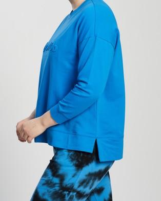 Love Your Wardrobe Lyw & Co Embossed Sweat - Sweats (Cobalt)