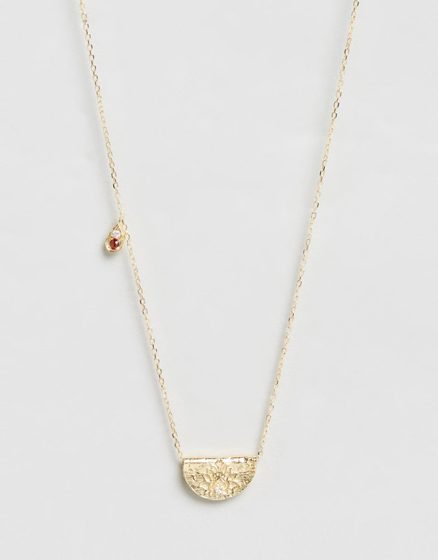Women January Love and Be Loved Gold Pendant Necklace