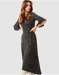 SACHA DRAKE - Musk Stick Wrap Dress