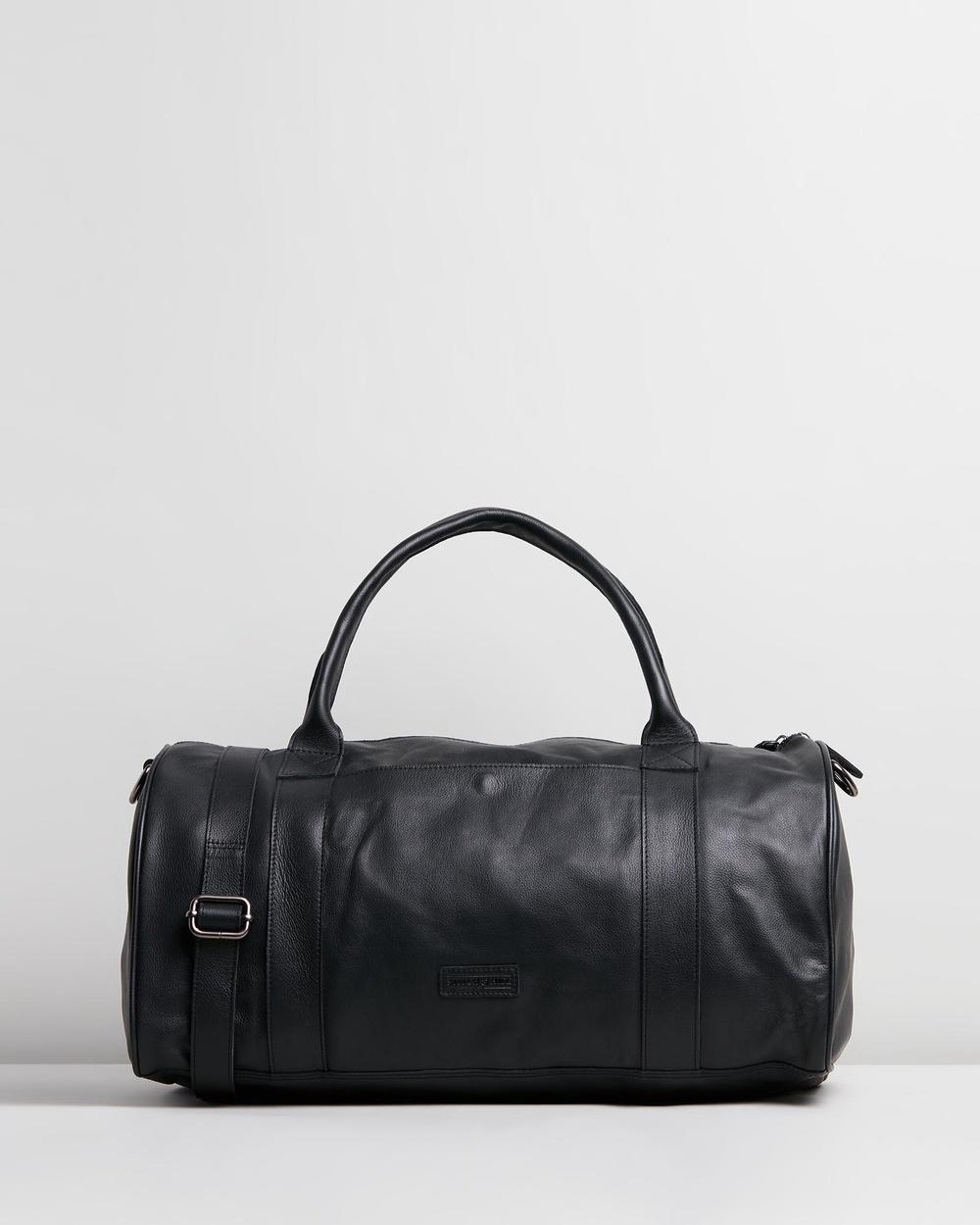 Stitch & Hide Globe Weekender Duffle Bags Black