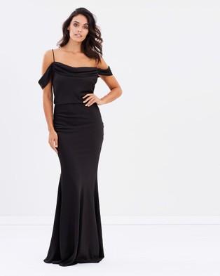 Grace & Hart – Winter Rose Drape Gown – Dresses (Black)