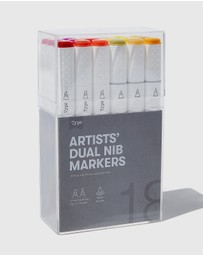 Typo - Artists' Dual Nib Markers 18-Pack - Teens