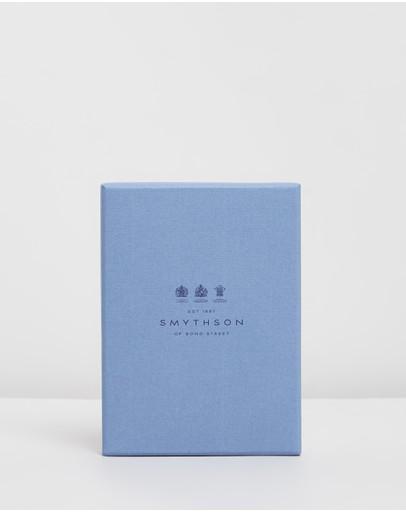 Smythson Panama Passport Cover Wallet Mahogany