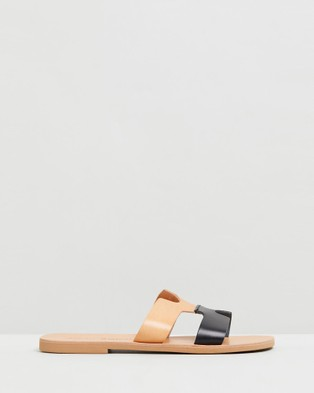 Ammos - Maia Sandals (Tan & Black)