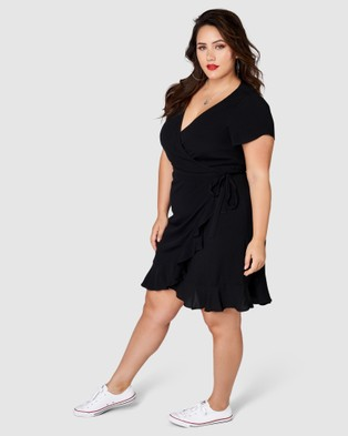 Sunday In The City My Wave Wrap Dress - Dresses (black)