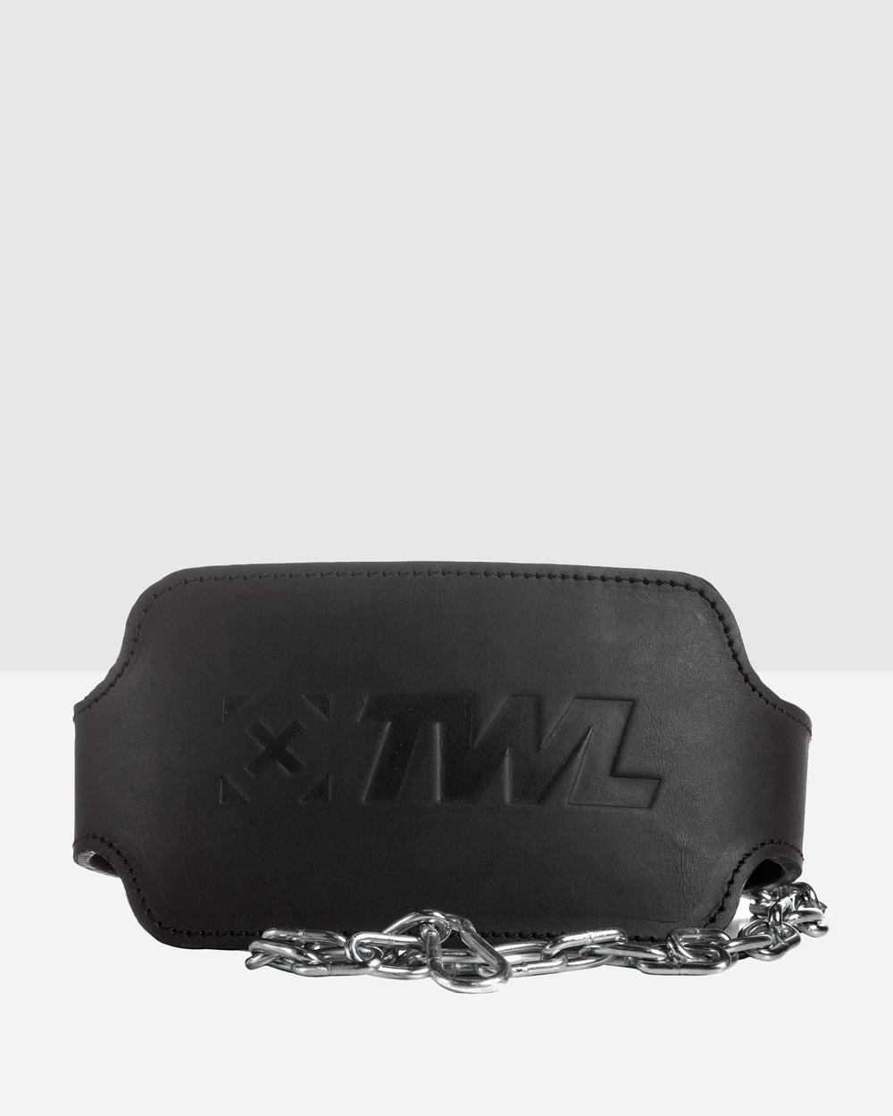 The WOD Life Leather Dip Belt 2.0 Training Equipment Black