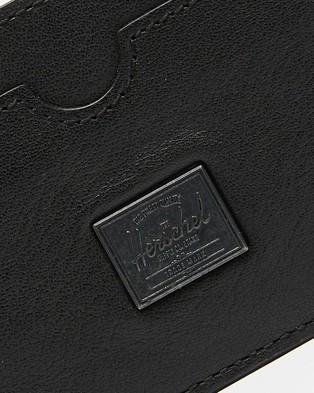 Herschel Charlie Leather RFID Card Holder - Wallets (Black)
