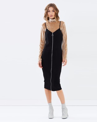 MINKPINK – Zip Through Dress Black