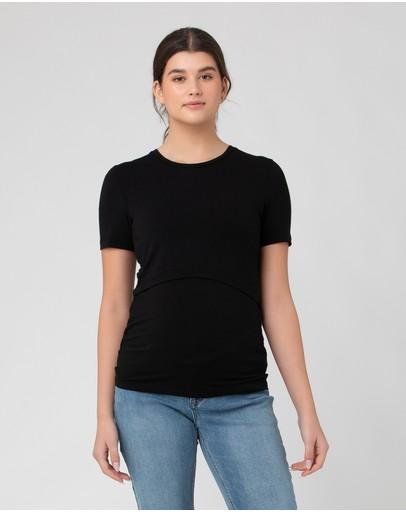 Ripe Maternity Organic Nursing Tee Black