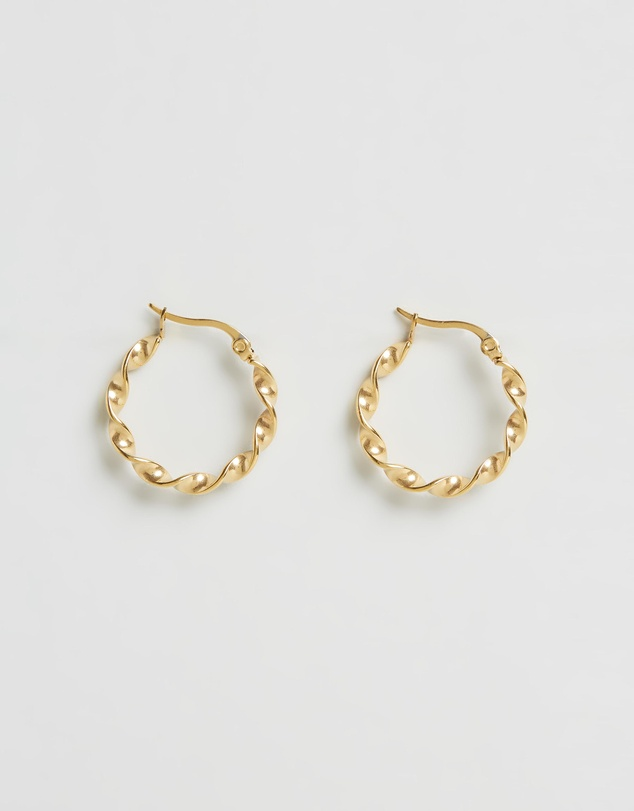 Small Swirl Hoops by Brie Leon