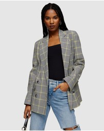 TOPSHOP - Check Double Breasted Blazer