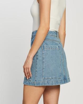 Dazie Gigi Denim Skirt - Denim skirts (Blue Wash)