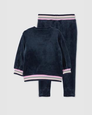 Milky Velour Tipping Sweat & Pants Set   Babies - Sweats (Twilight)