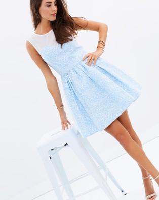 Romance by Honey and Beau – Cheetah Floaty Dress – Dresses (Blue)
