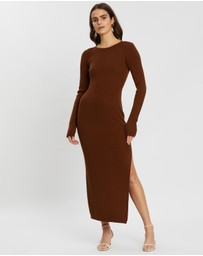 Bec + Bridge - Freya Long Sleeve Knit Midi Dress