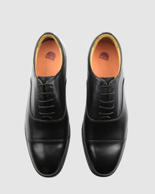 Bared Footwear Aluminium Lace ups   Men's - Dress Shoes (Black)