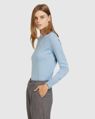 Oxford - Emily Crew Neck Knit Jumpers & Cardigans (Blue)