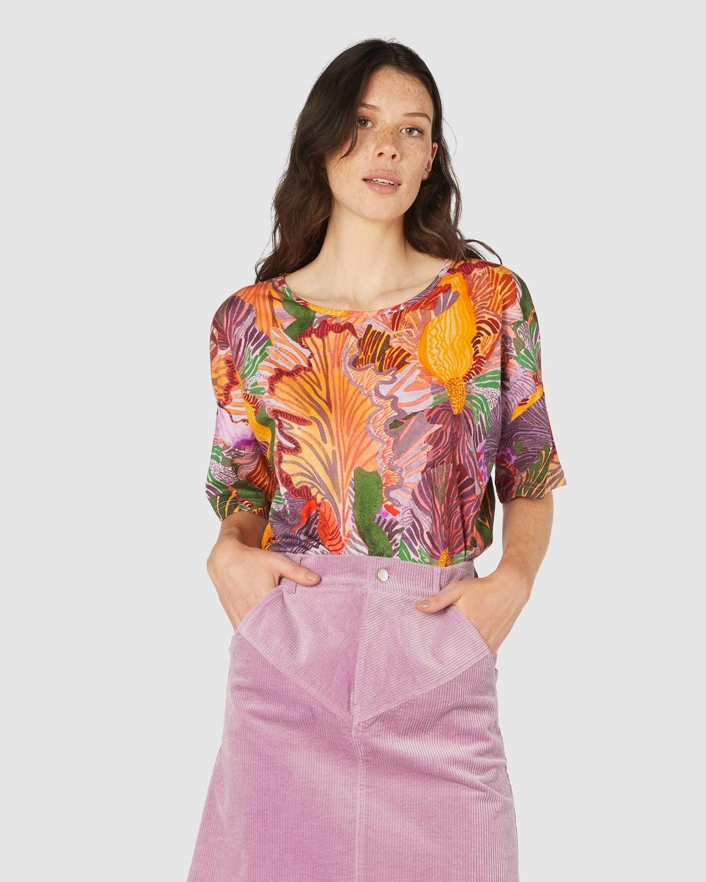 Gorman - Iris Veins Tee - T-Shirts & Singlets (Multi) Iris Veins Tee