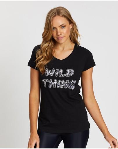 Snuxe Wild Thing Leopard Short Sleeve Tee Black